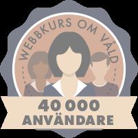 Nu har vi haft fyrtio tusen användare av webbkursen